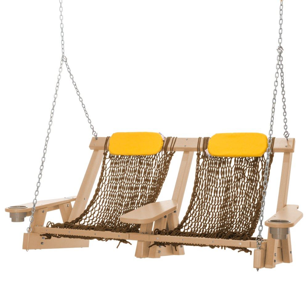 Cedar Durawood Deluxe Double Rope Swing