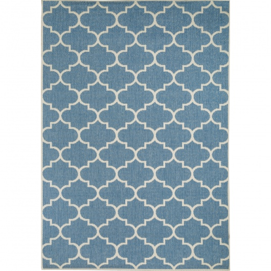 Blue and Champagne Seashells - Pawleys Island Porch Rug