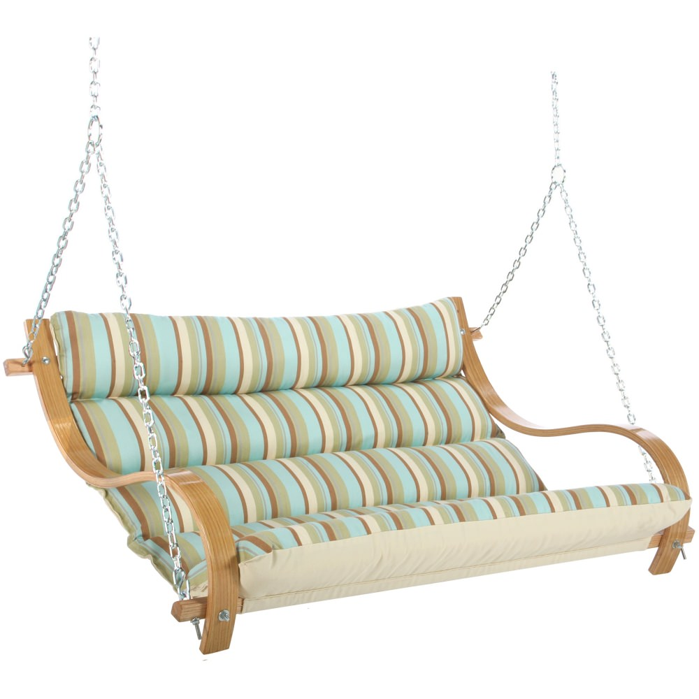 Curved Arm Canvas Double Swing