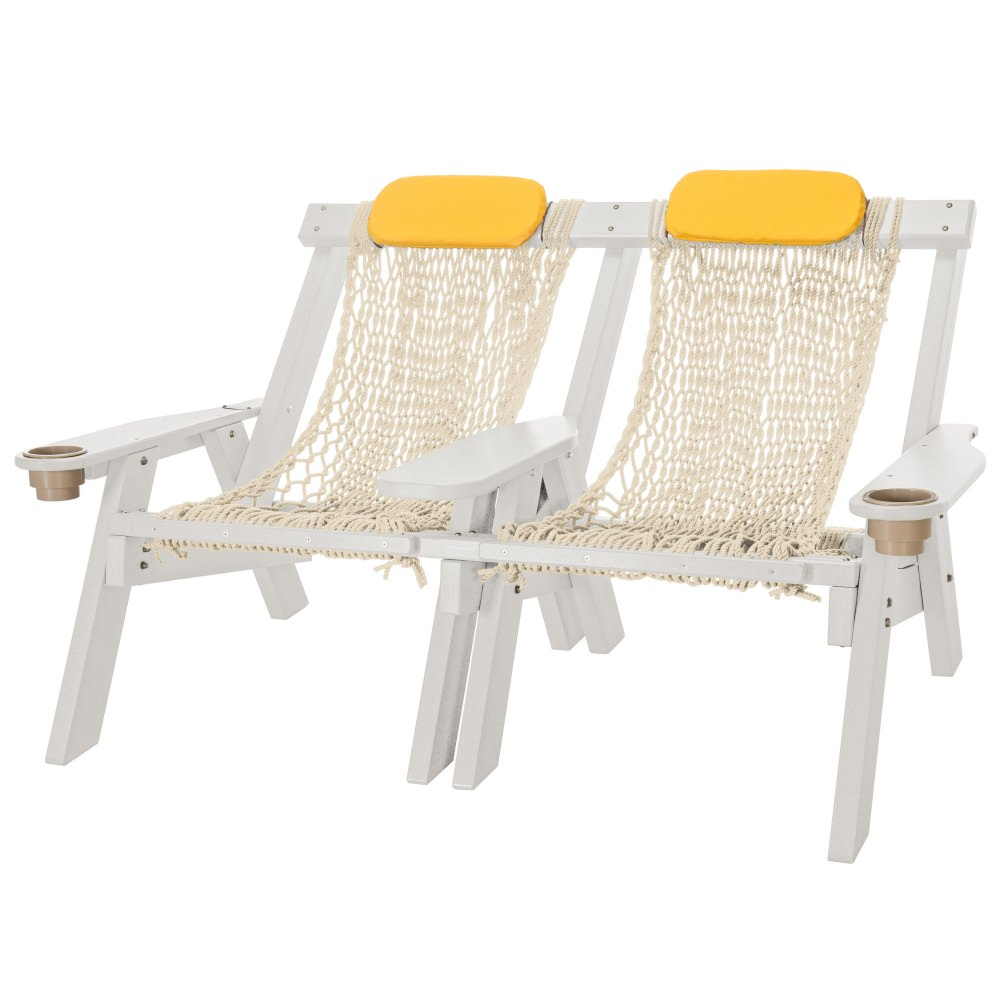 White Durawood Double Rope Chair