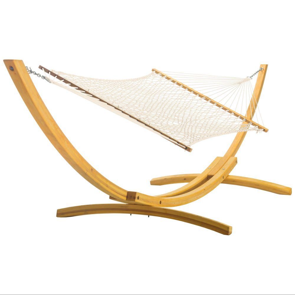 Double Hammock and 4-Ply Cypress Roman Arc Stand Combo