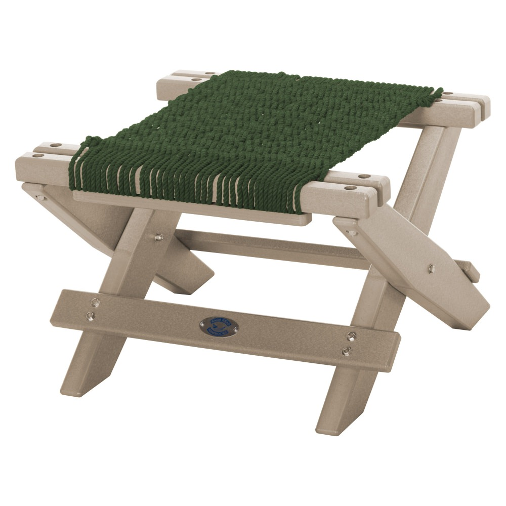 Weatherwood Durawood Folding Rope Footstool