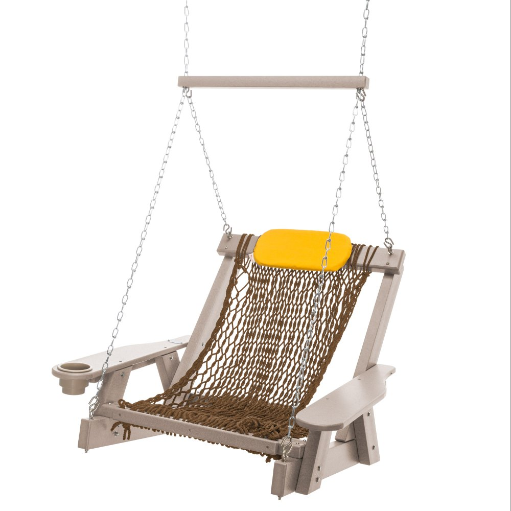 Weatherwood Durawood Single Rope Swing
