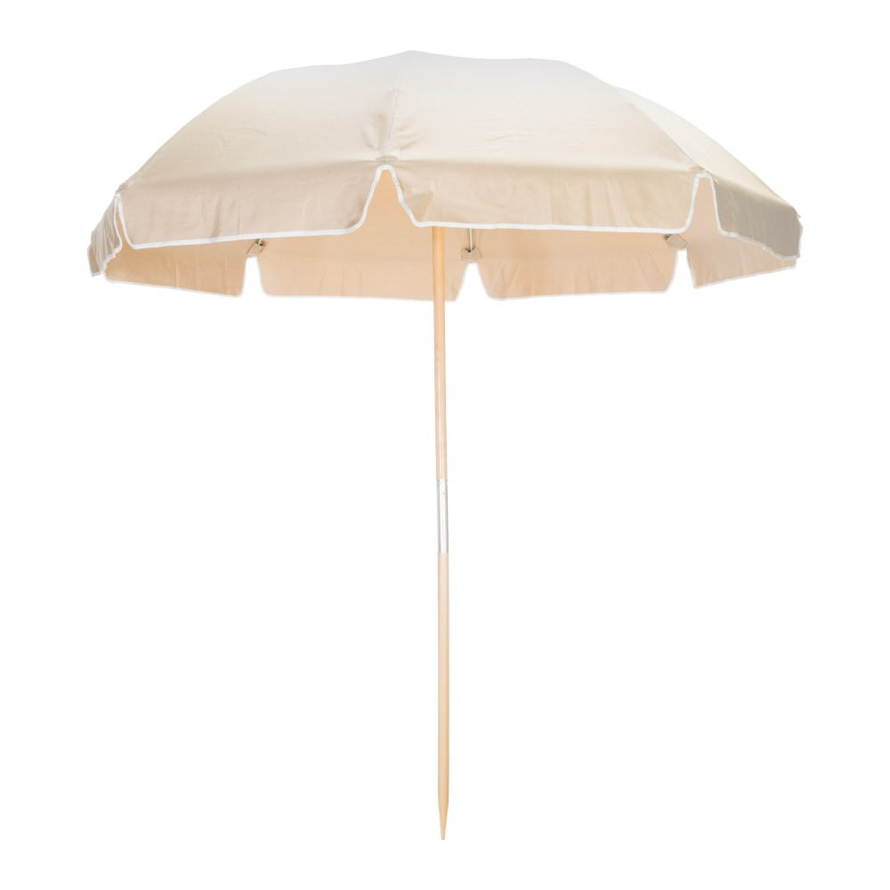 7 5 Ft Wide Frankford Beach Umbrella In Black And Linen