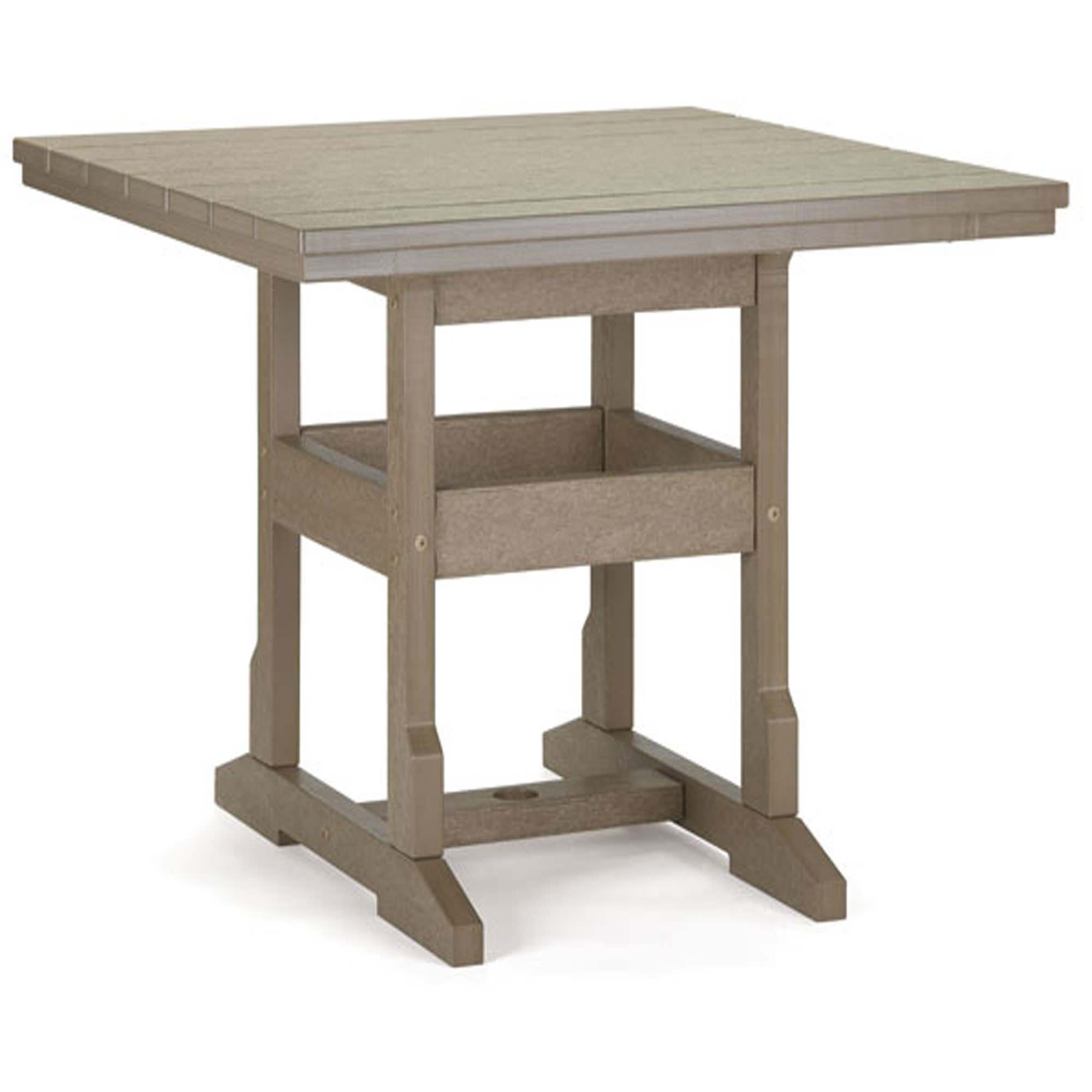 36 inch square dining height table