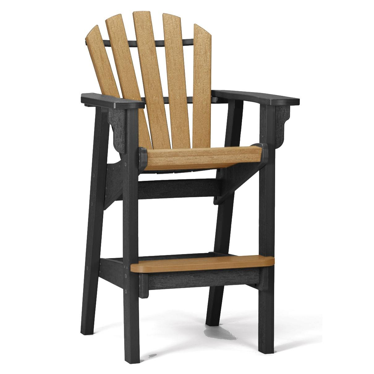 Coastal Barstool Chair Black And Cedar
