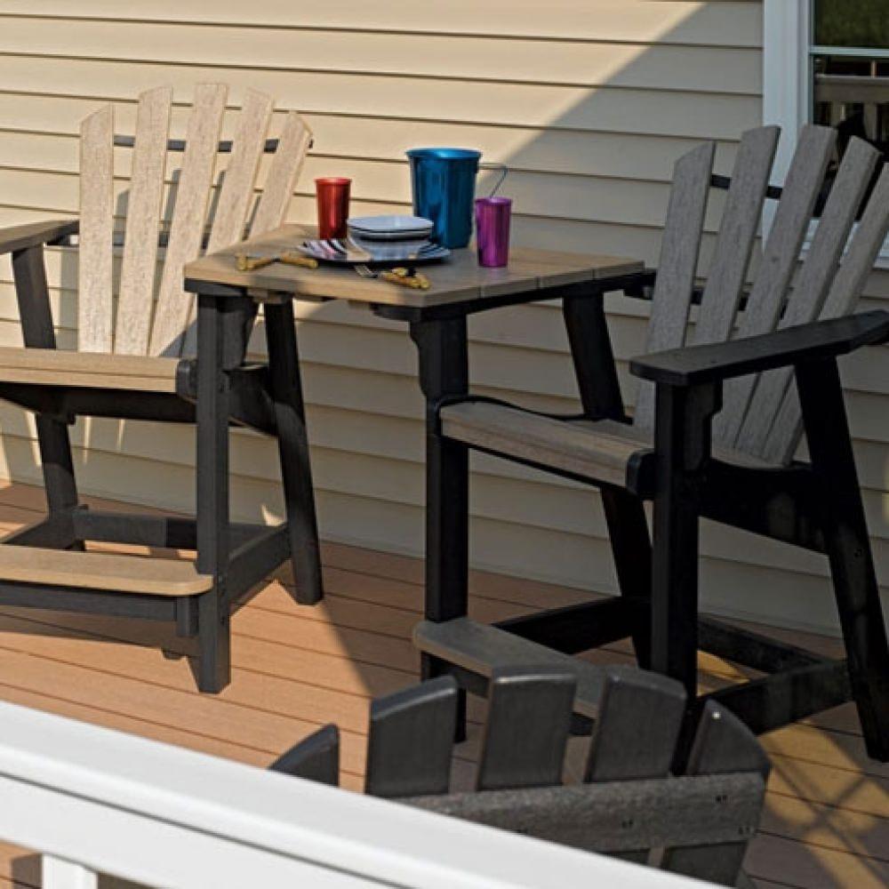 Coastal Barstool Chair Black And Cedar