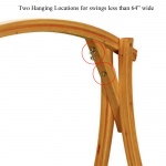 Roman Arc Cypress Swing Stand