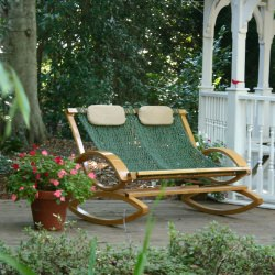 Deluxe Double Bent Oak Rocker: SPRING SPECIAL
