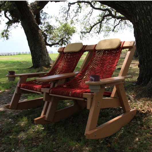 Cedar Durawood Double Rope Rocker