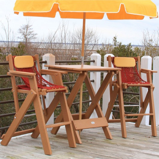 Durawood Folding Bar Table