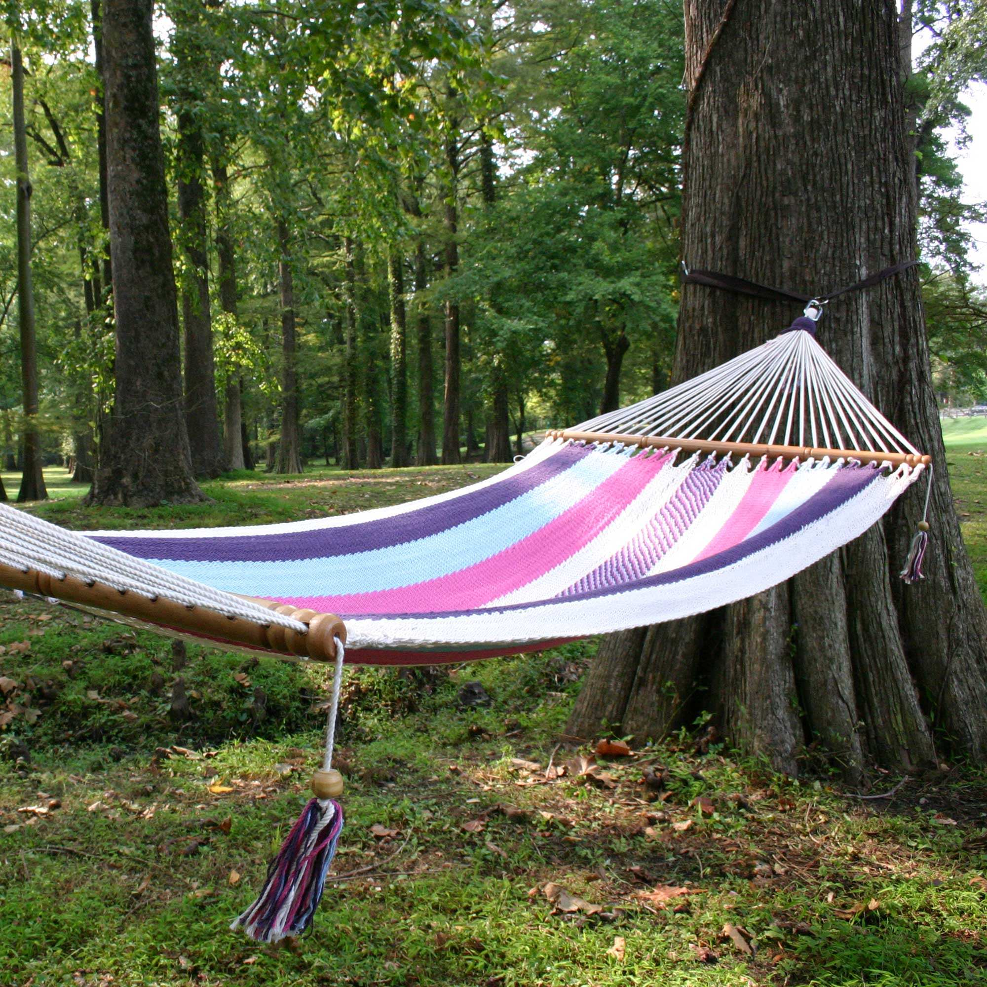 Deluxe Mayan Hammock With Spreader Pastel
