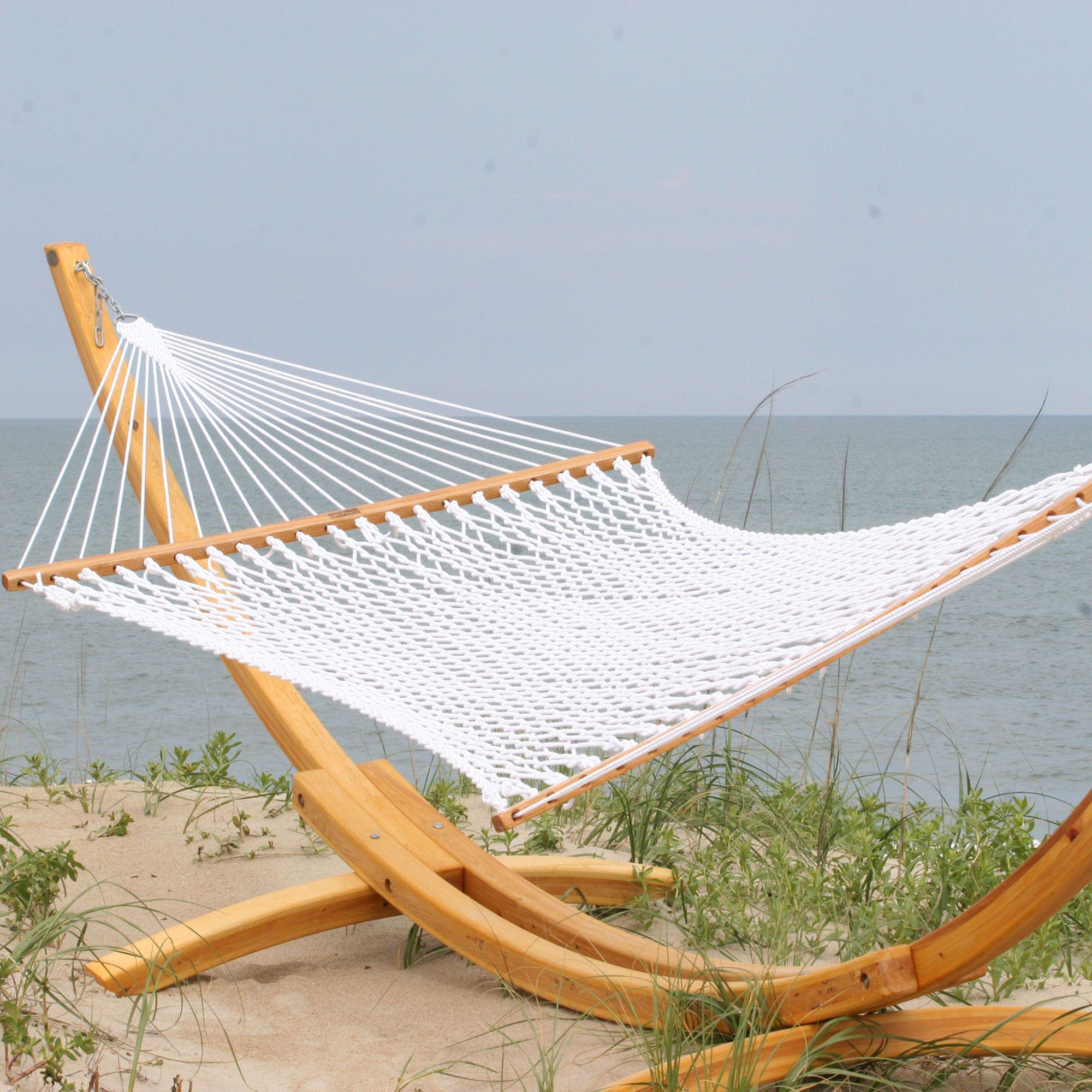 images white kit hanging canvas hammocks free and large itm with hammock bar spreader heavenly tassels half