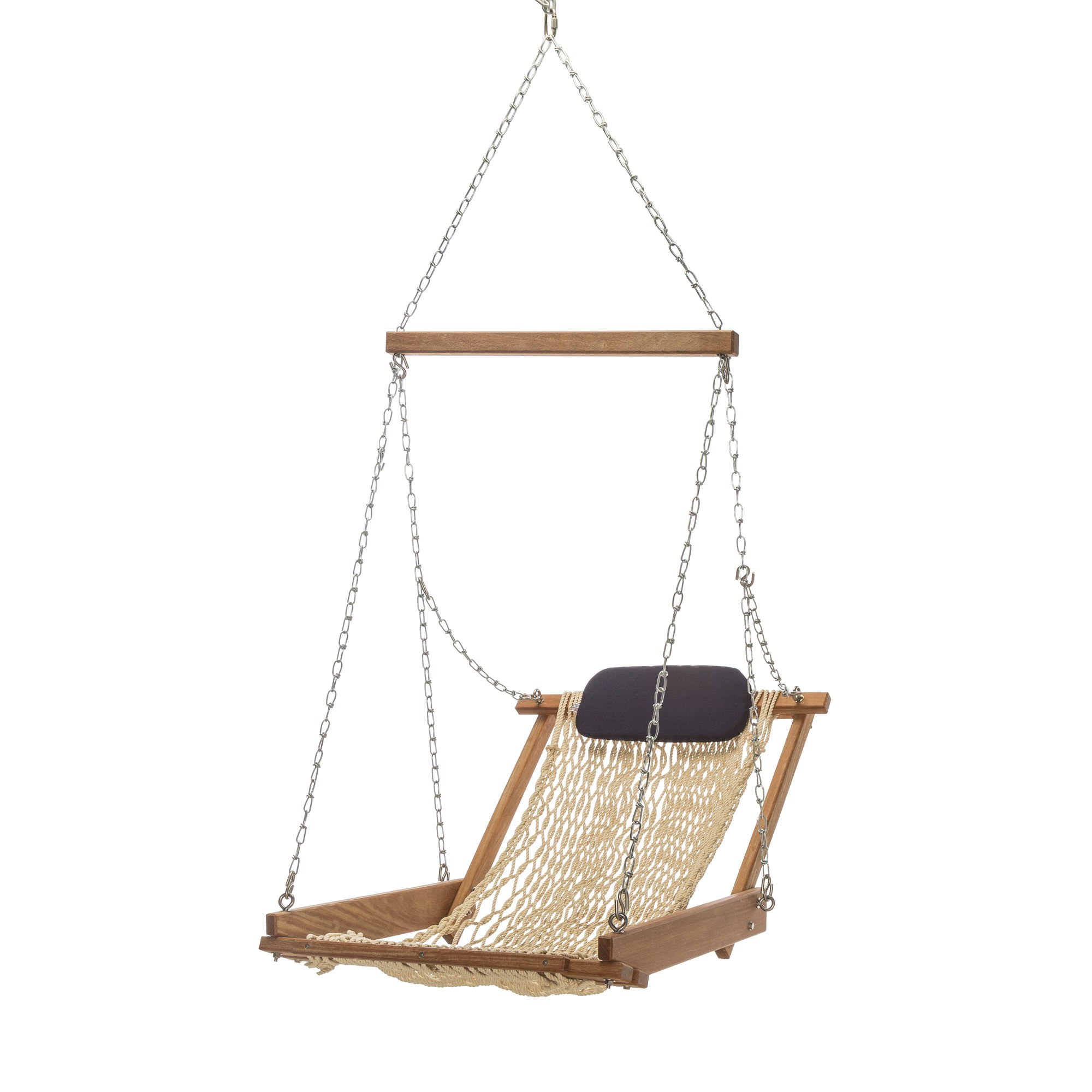 patio swing deluxe cup rope wood outdoor hammocks chair hardware oversized double arc with garden lazydaze padded holder capacity cotton hanging footrest seat pin hammock