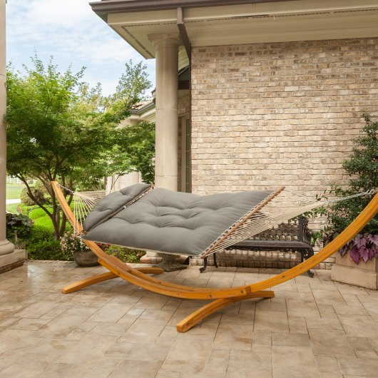 Sunbrella Spectrum Dove Tufted Hammock