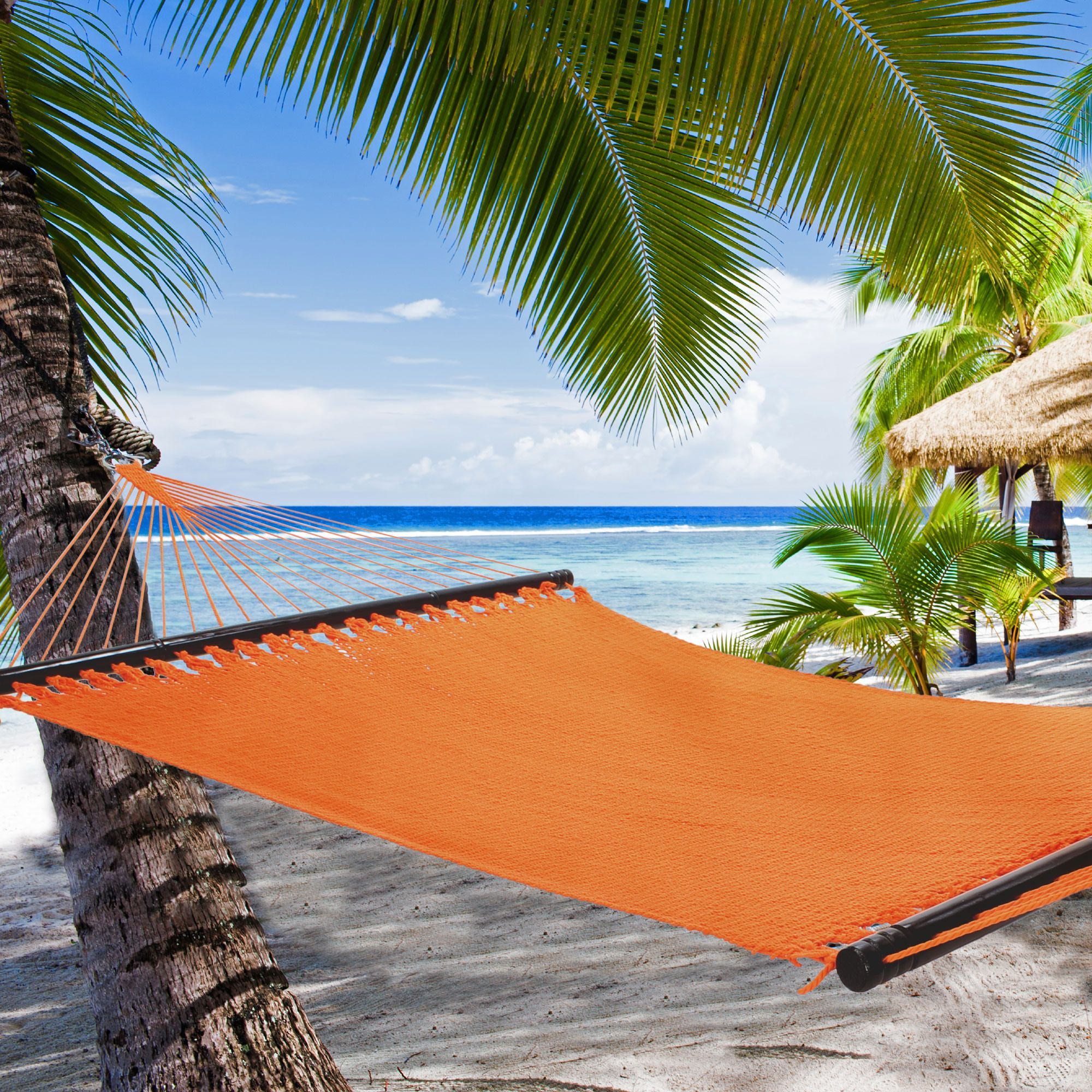island xx hardware dfohome caribbean with large free hammock tihmbr mocha tropic hammocks polyester soft hanging spun