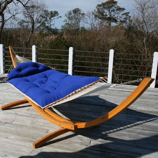 Sunbrella Royal Blue Tufted Hammock