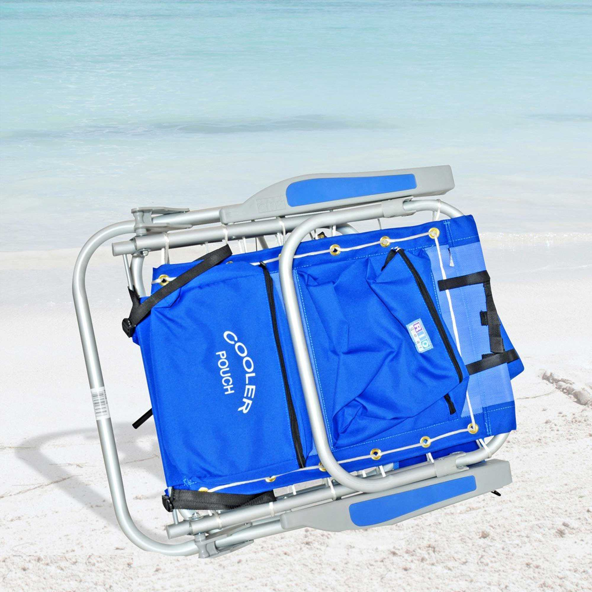 Rio 5 Pos Layflat Ultimate Backpack Beach Chair With Cooler Nags