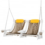 White Durawood Deluxe Double Rope Swing