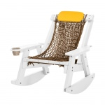 White Durawood Single Rope Rocker
