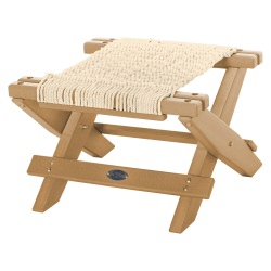 Cedar Durawood Folding Rope Footstool