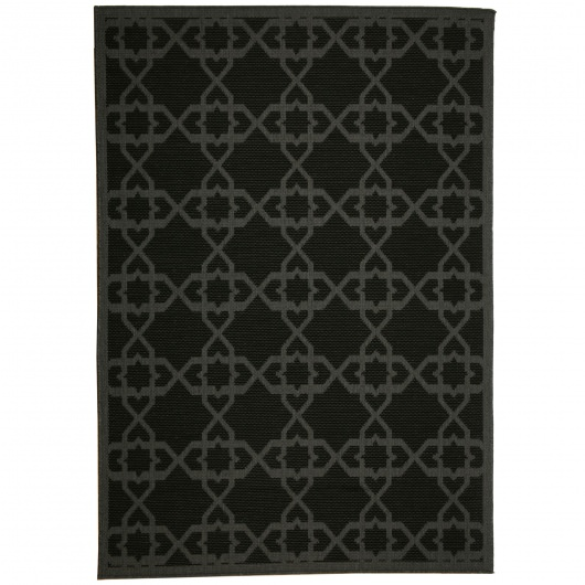 Antebellum Black Porch Rug