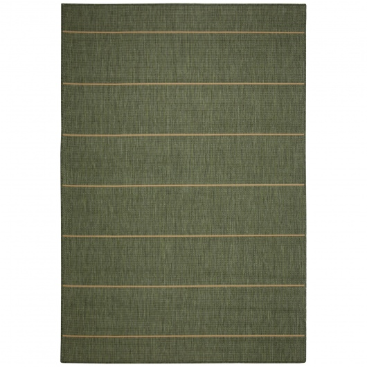 Palmetto Stripe Green Porch Rug