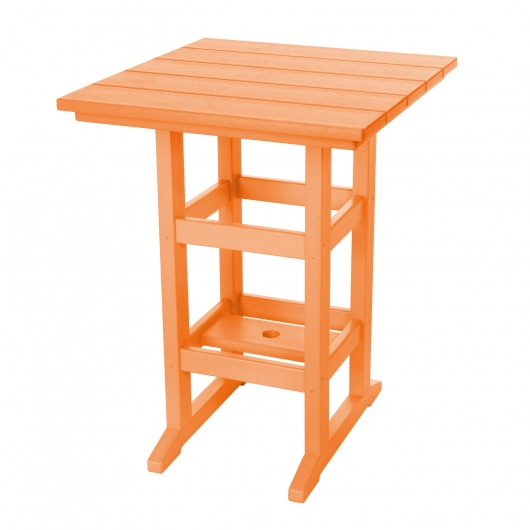Square Counter Height Table - Orange