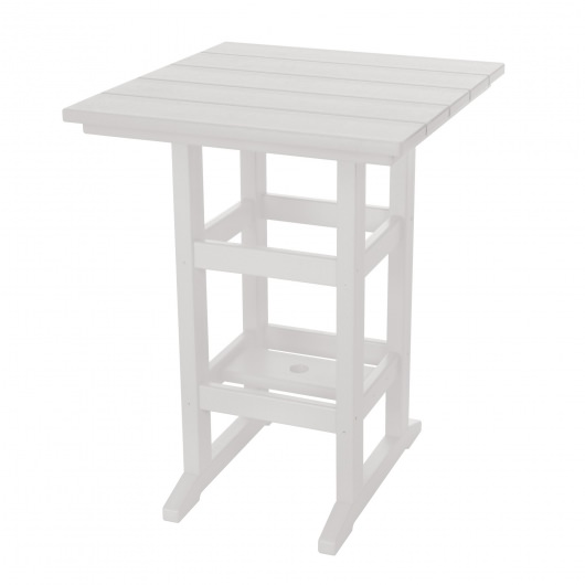 Square Counter Height Table - White