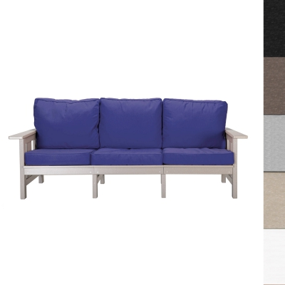 Durawood Deep Seating Sofa with Sunbrella Cushions