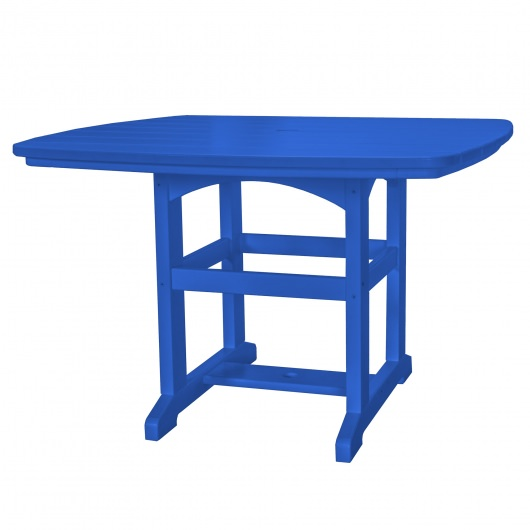 45 in x 45 in Dining Table - Blue