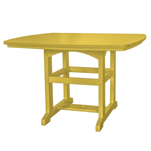 45 in x 45 in Dining Table - Yellow