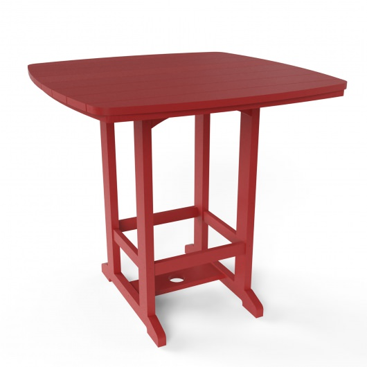 Square High Dining Table - Red