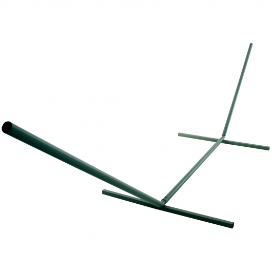 15 ft. Steel Hammock Stand with Powder Coated Finish - Forest Green