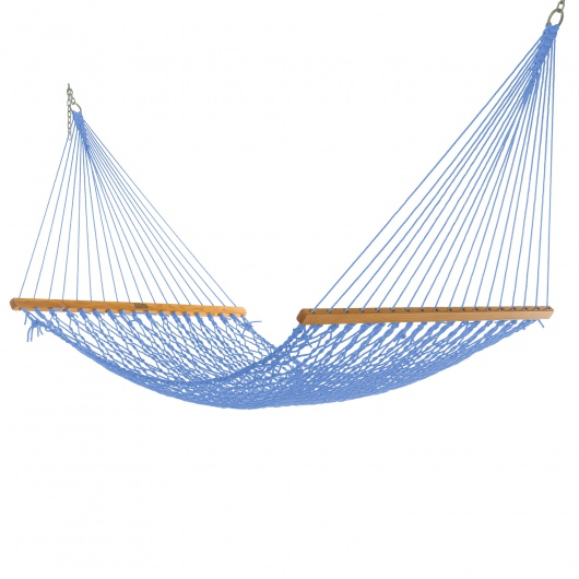 Single Coastal Blue DuraCord Rope Hammock
