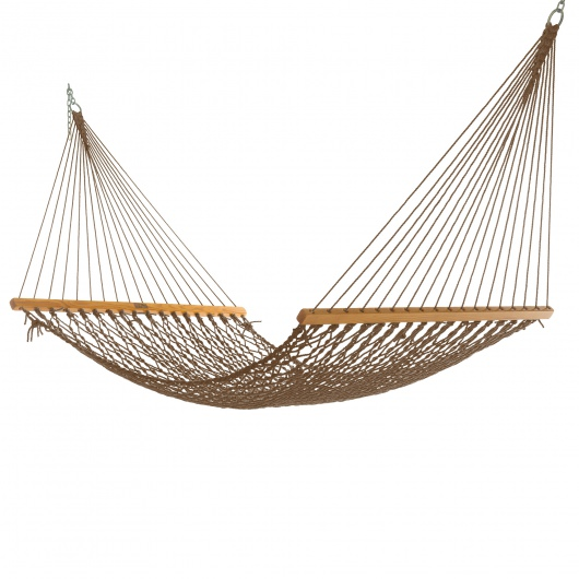 Single Mocha DuraCord Rope Hammock