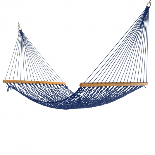 Single Navy DuraCord Rope Hammock
