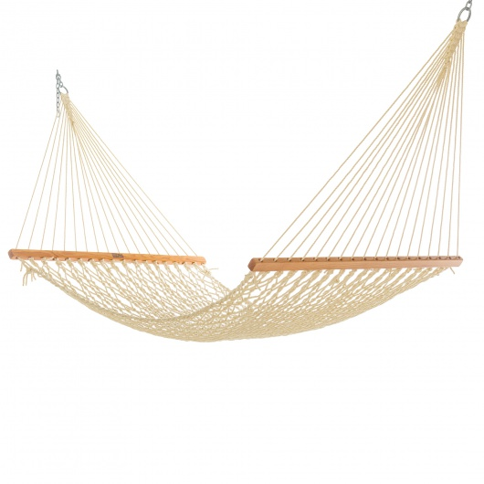 Single Oatmeal DuraCord Rope Hammock
