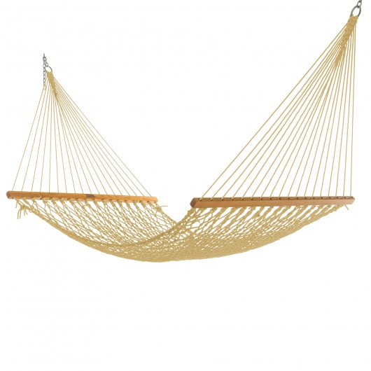 Single Tan DuraCord Rope Hammock