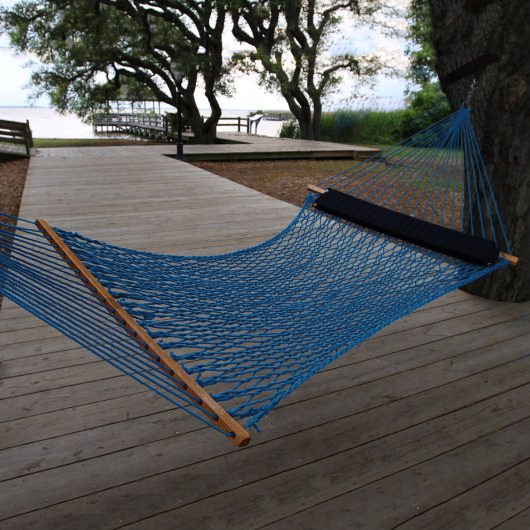 Double Coastal Blue DuraCord Rope Hammock