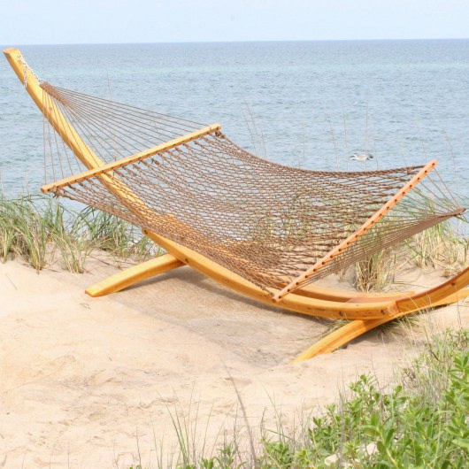 Double Mocha DuraCord Rope Hammock