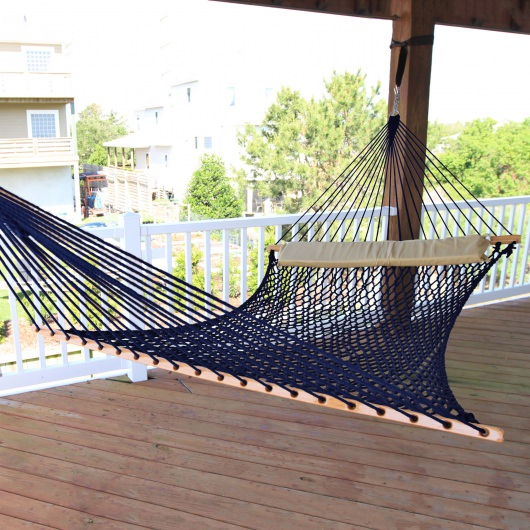 Double Navy DuraCord Rope Hammock