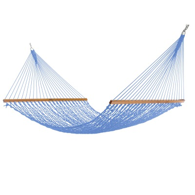 Extra-Wide Coastal Blue DuraCord Rope Hammock