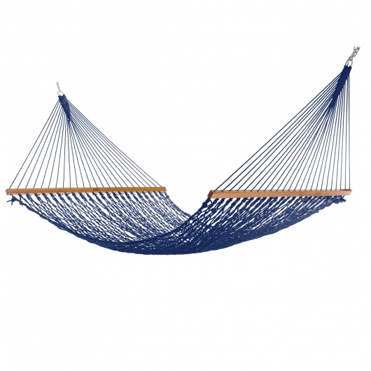 Extra-Wide Navy DuraCord Rope Hammock
