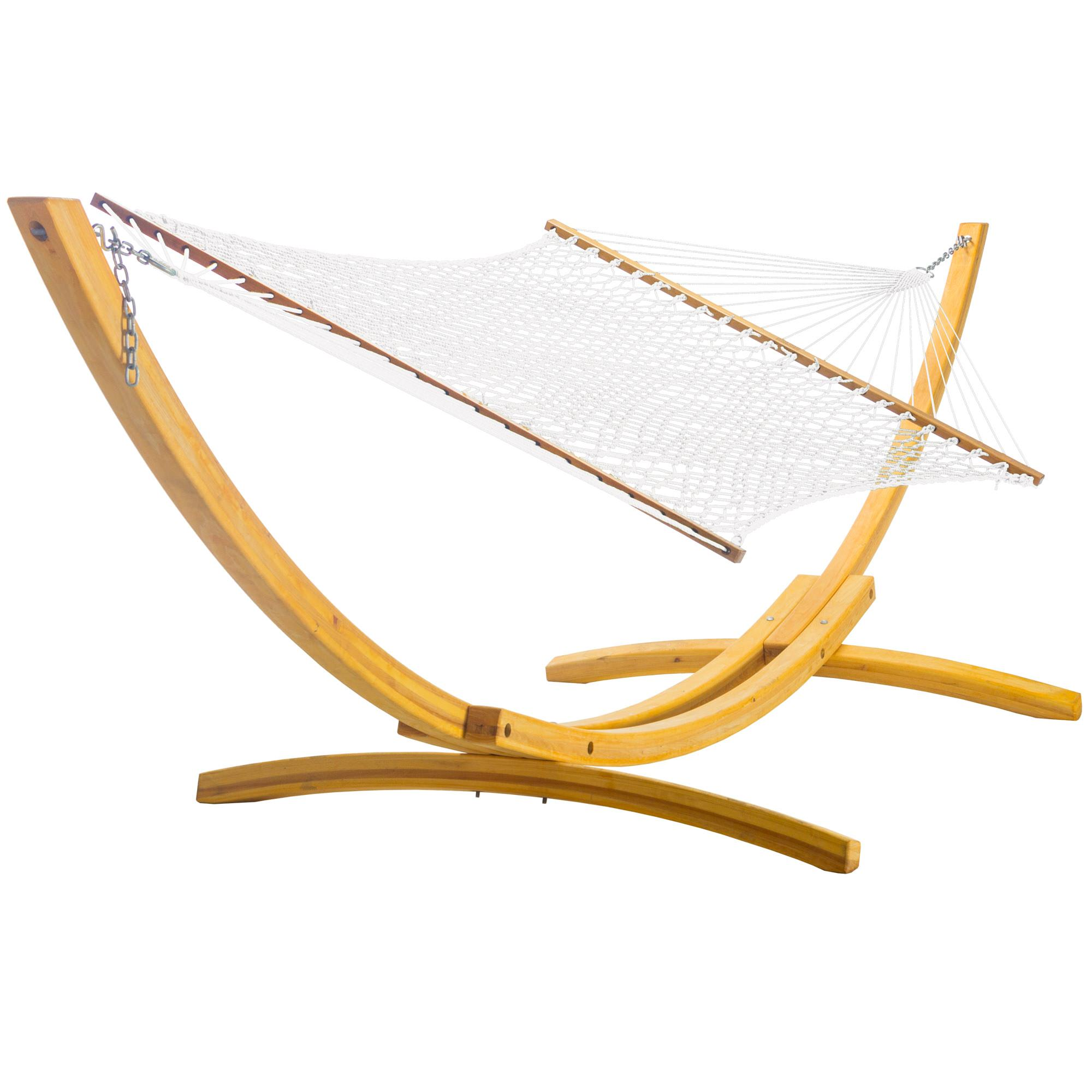 Shop Extra Wide Hammock And 4 Ply Cypress Roman Arc Stand