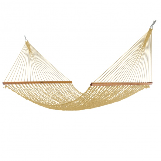 Extra-Wide Tan DuraCord Rope Hammock