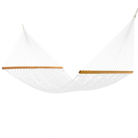 Admiral White Polyester Rope Hammock