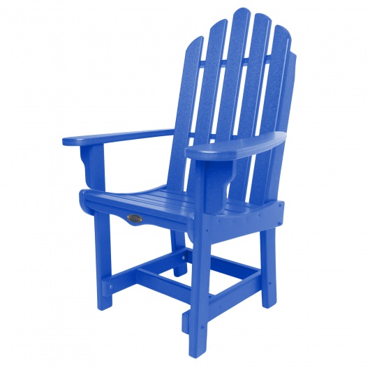 Classic Dining Chair with Arms - Blue