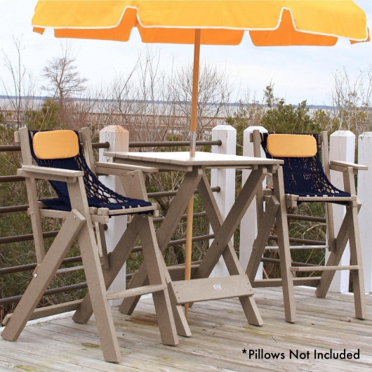 Weatherwood Durawood Folding Barstool and Table Combo