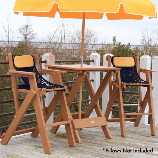 Cedar Durawood Folding Barstool and Table Combo
